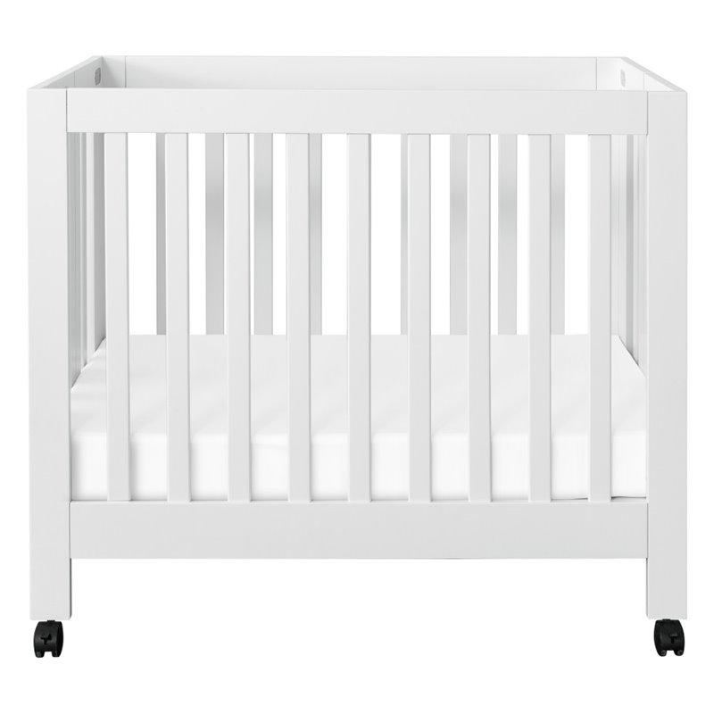 Babyletto Origami Mini Crib In White M6698W