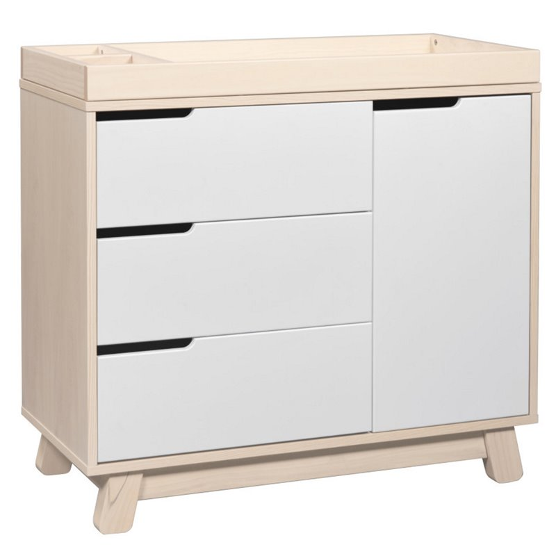Babyletto Hudson 3Drawer Changing Table Dresser in Washed Natural with White 48517817810  eBay