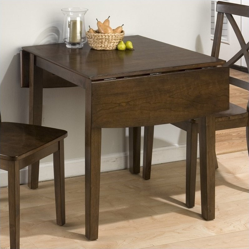 drop leaf kitchen table and chairs small leather club chair jofran double dining in taylor brown cherry - 342-48