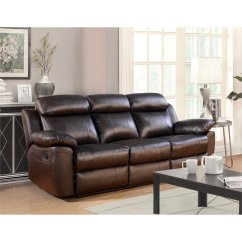 Abbyson Leather Sofa Reviews Natuzzi Sectional Canada Brody Top Grain Reclining In Brown ...