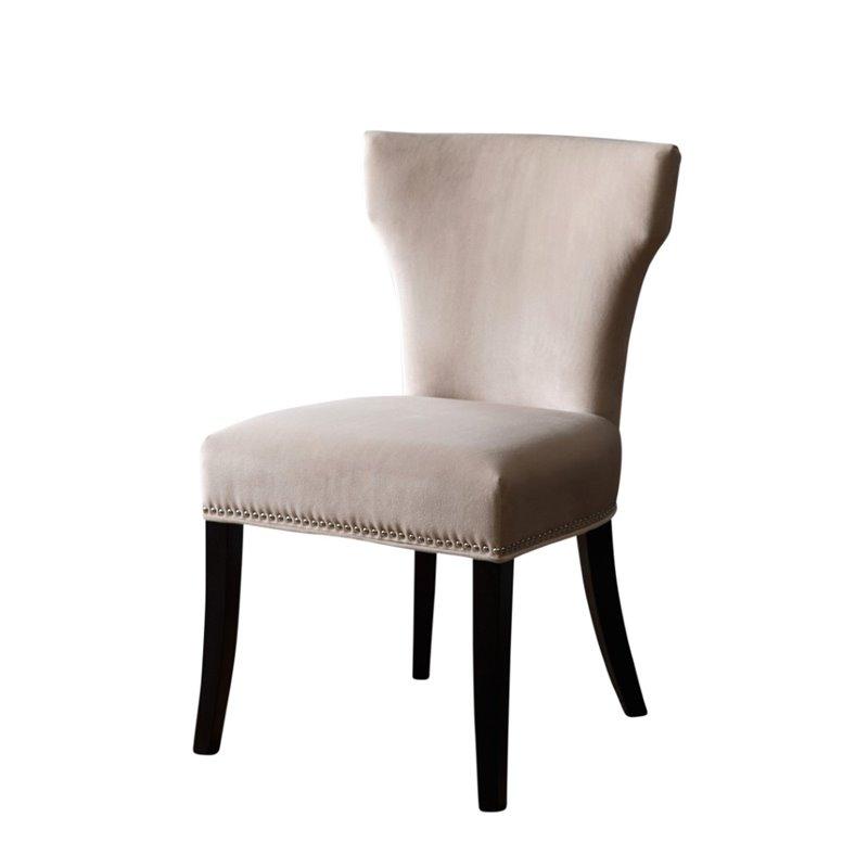 Abbyson Living Nolan Velvet Dining Chair in Ivory