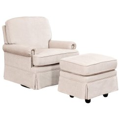 Glider Chair Ottoman Travel High Target Abbyson Living Chloe Swivel And In Cream Sk