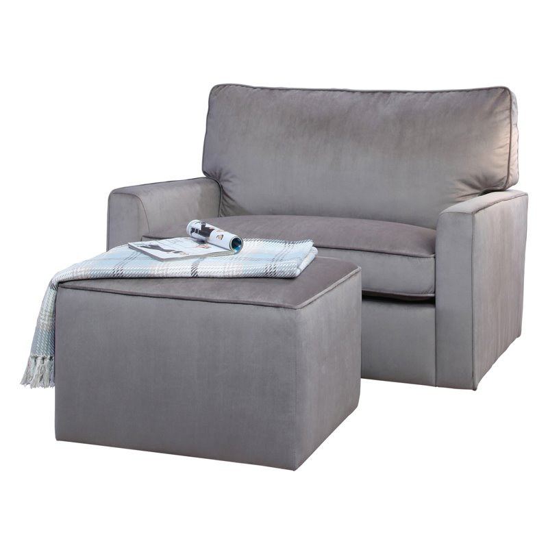 cheap glider chair massage for sale abbyson ann grey oversized velvet and ottoman sk 3933 gry