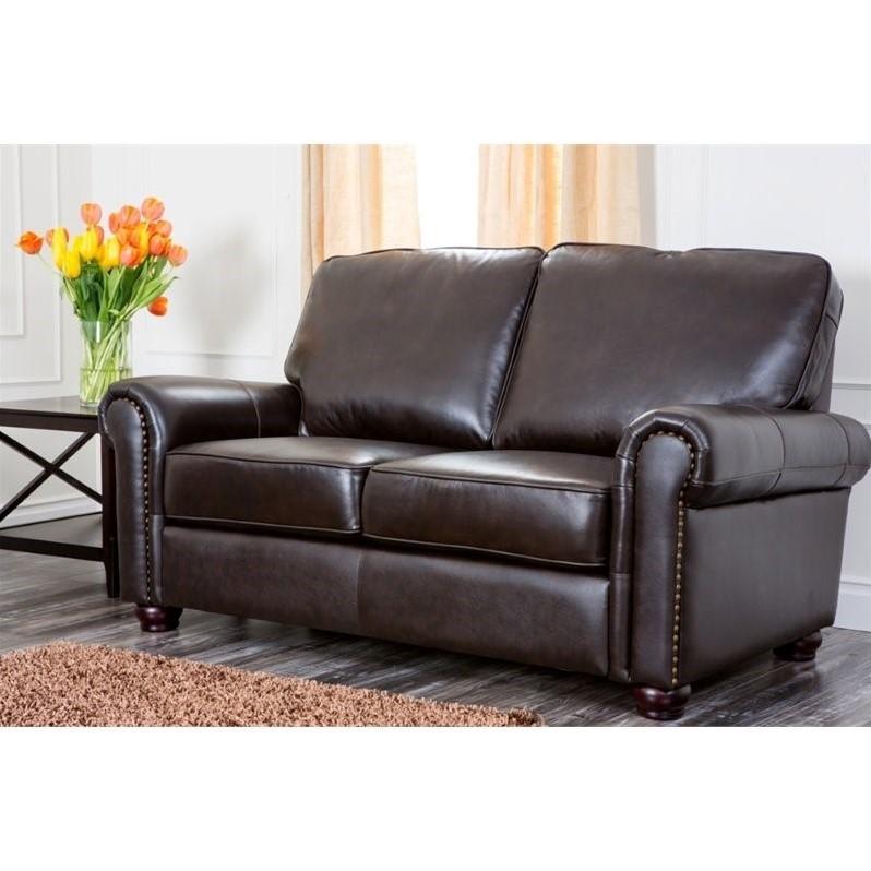 Abbyson Living London Leather Sofa