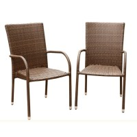 Abbyson Living Palermo Outdoor Wicker Dining Chair in