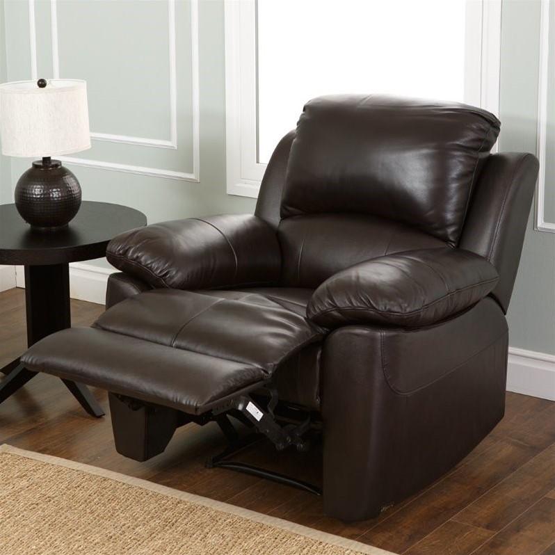 abbyson leather sofa reviews used houston tx living bella recliner in espresso - sk ...