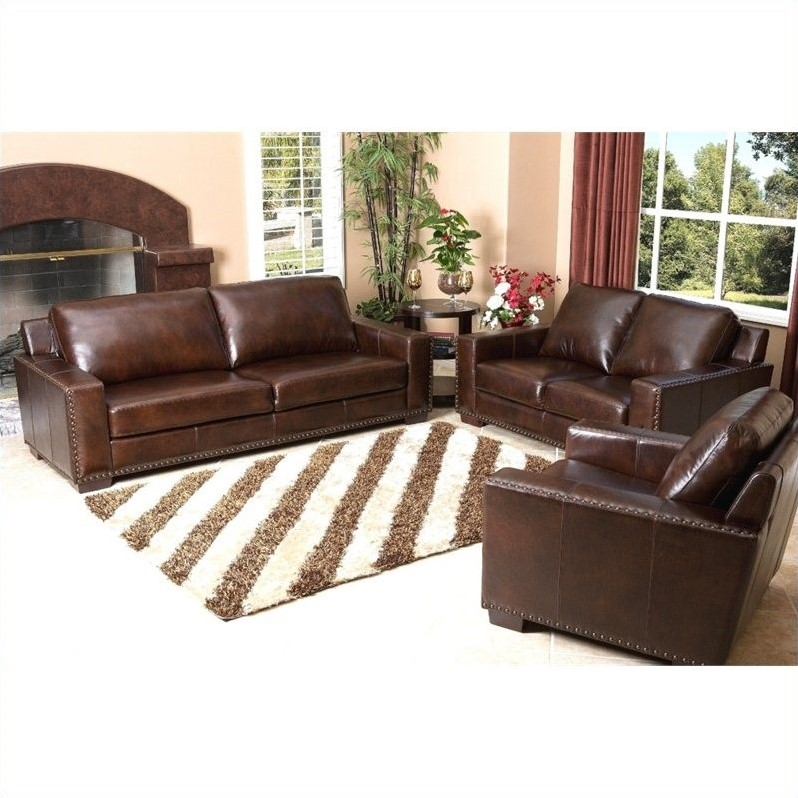abbyson leather sofa reviews with right cuddler beverly 3 piece set in espresso sk 9060 brn 2 1