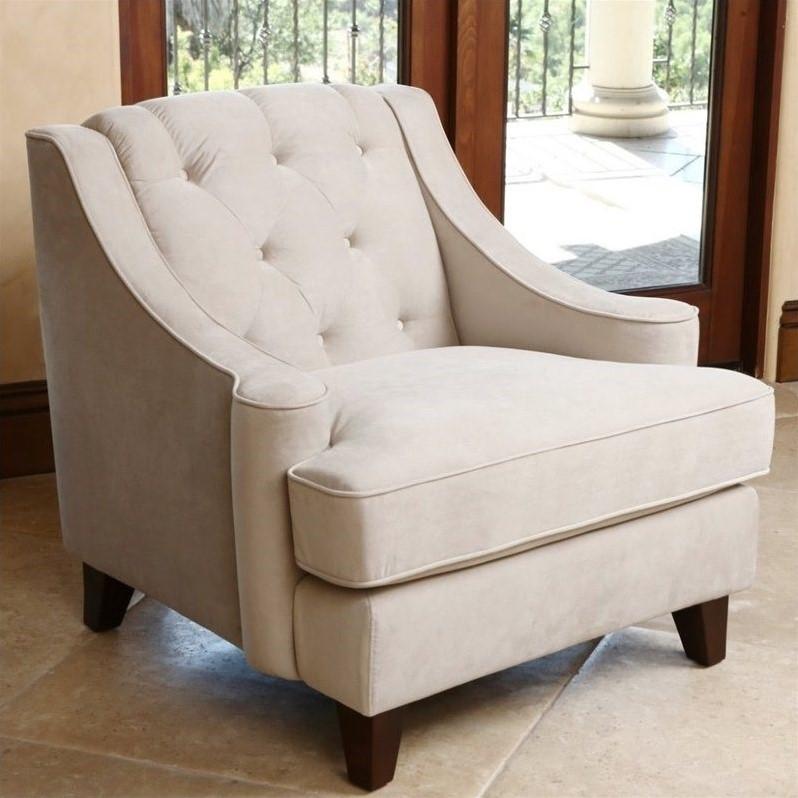 velvet tufted chair for kid room abbyson emily arm in beige rl 1450 bge 1