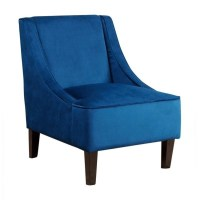 Abbyson Carlton Fabric Accent Chair in Blue - BR-C72-BLUE