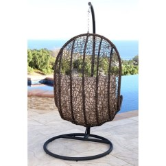 Egg Wicker Chairs Outdoor Bedroom Stool Or Chair Abbyson Sonoma Shaped In Espresso Dl Rsc002 Bge