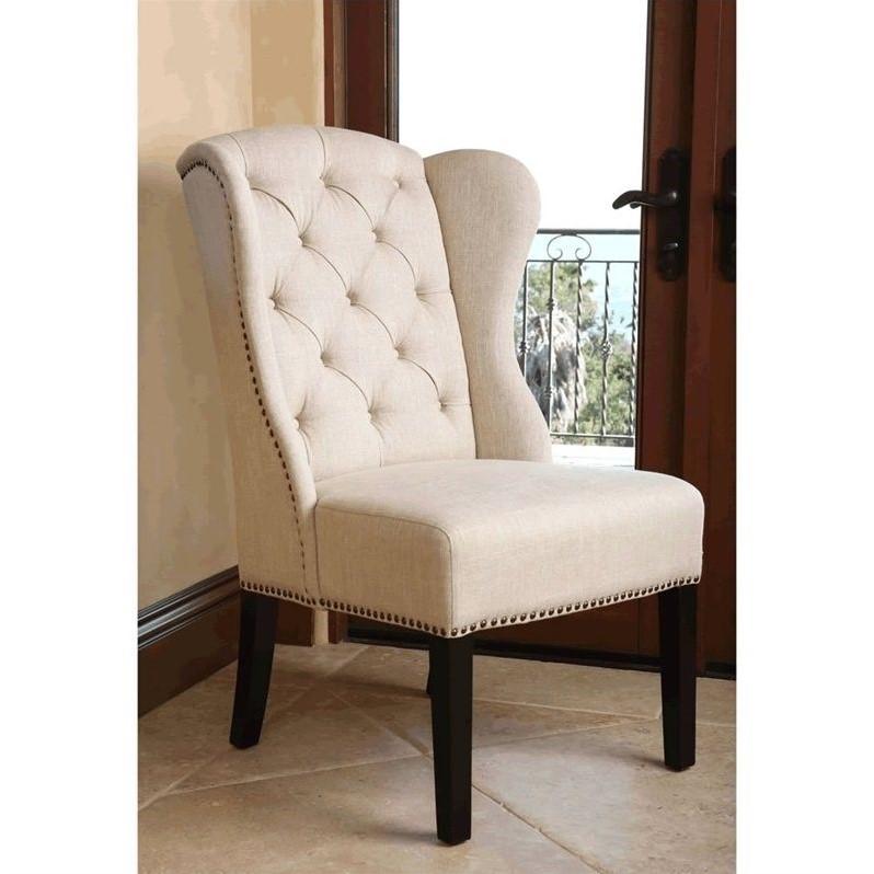 Cream Tufted Chair