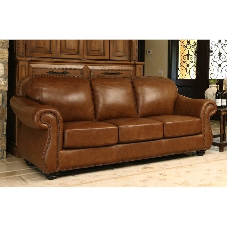top grain leather sofa set stylish chairs abbyson erickson in camel brown - sk ...