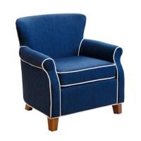 Abbyson Living Jackie Kids Fabric Mini Armchair in Navy ...