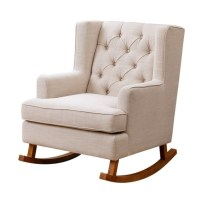 Abbyson Thatcher Fabric Rocking Chair in Beige