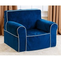 Abbyson Living Kids Mini Fabric Armchair in Navy Blue - BR ...