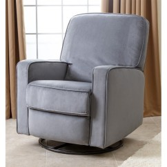 Glider Recliner Chair Best Canoe Abbyson Ravenna Fabric Swivel In Gray Cr 10406 Gry
