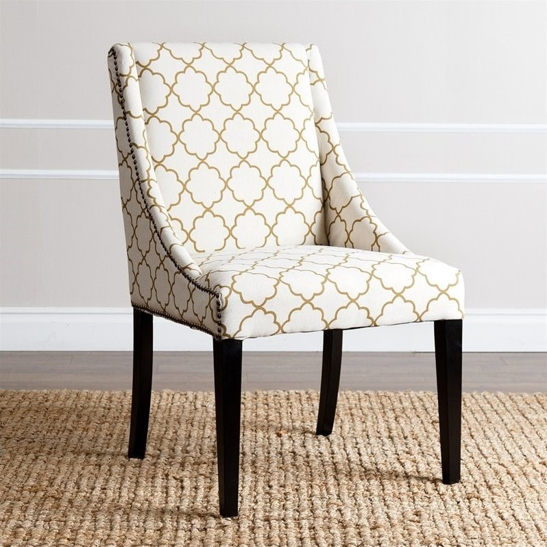 nailhead upholstered dining chair chairs for a bedroom abbyson teena br dc a004 gldlat