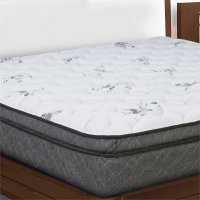 Pillow Top King Size Mattress in White - OLE3-1060