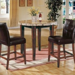 Pub Table And Chairs 3 Piece Set 2 Minnie Mouse Steve Silver Company Montibello Dining - Mn600pt-pkg1