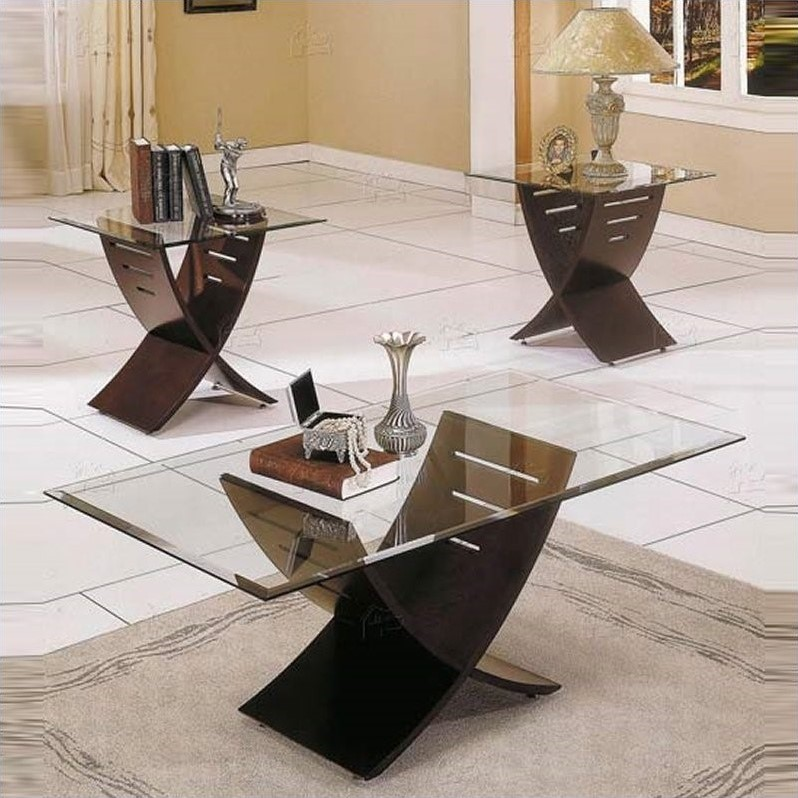 3 piece table set for living room chair sale steve silver company cafe coffee in espresso ca125x kit