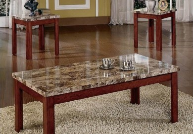 Linon Sutton 2 Piece Coffee And End Table Set In Black