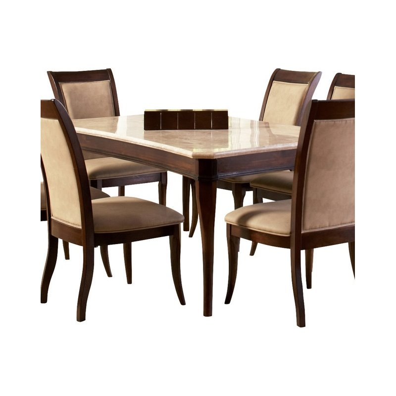 steve silver dining chairs wood side company marseille marble top table in cherry