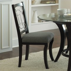 Dining Chair Upholstery La Z Boy Office Chairs Steve Silver Cayman Grey In Black Finish Cy480s