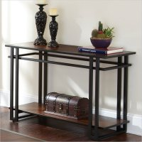 metal/wood sofa table | Decor | Pinterest