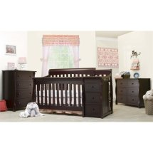 Sorelle Tuscany 4-in-1 Convertible Crib And Changer Set In