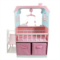 Teamson Kids Pink Baby Nursery Doll House