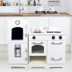 Retro Kids Kitchen Kitchens Of India Teamson 2 Piece Wooden Play In White Td 11413w