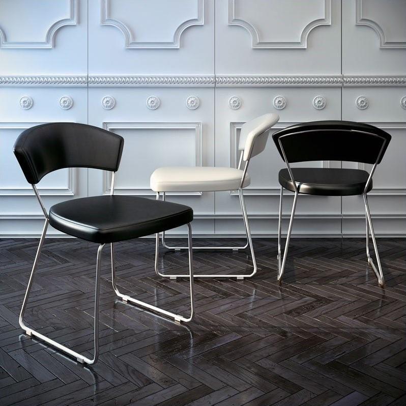 modloft dining chair le corbusier chandigarh delancy in black leather md611 l03