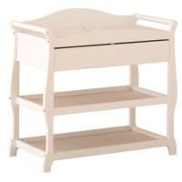 Sleigh Changing Table with Drawer in White - 00524-581
