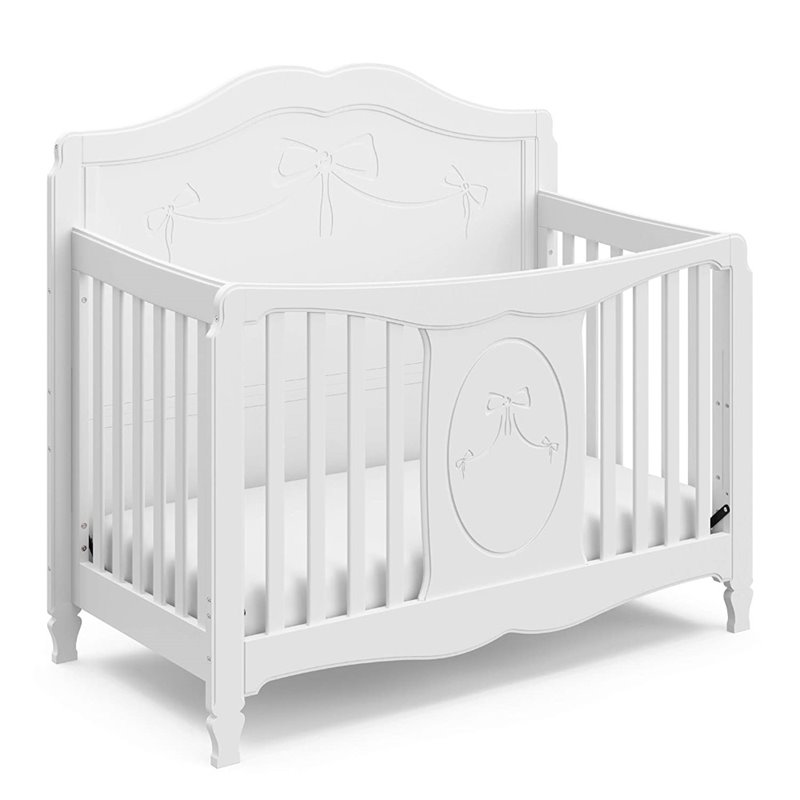 Fixed Side Convertible Crib in White  04587151