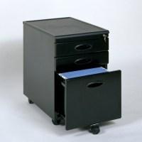 Studio RTA 2 Drawer Mobile Metal File Black Filing Cabinet ...
