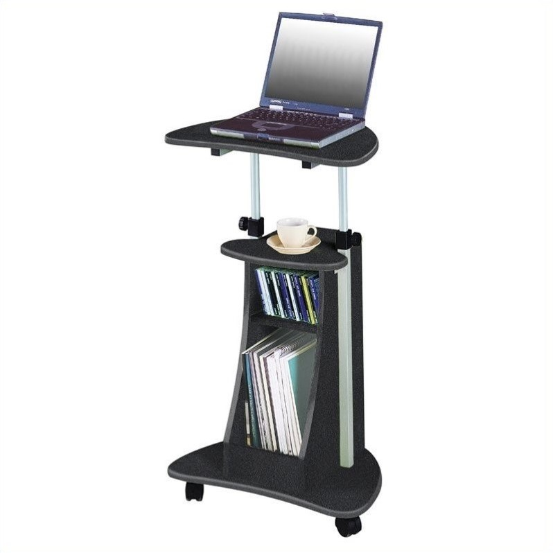 TECHNI MOBILI Cadmus Stand Graphite Mobile Laptop Cart