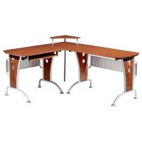 TECHNI MOBILI L-Shape Corner Wood/Metal Workstation ...