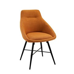 Orange Upholstered Chair Mid Century Chairs Urban Side In Set Of 2 Ch18urb2or