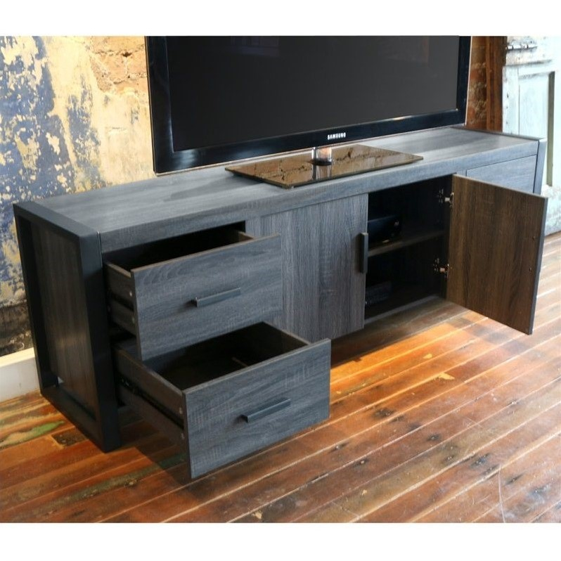 70 Quot Charcoal Grey Wood Tv Stand W70ubc22cl