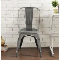 Metal Cafe Chair in Gun Metal - CH33MCGM