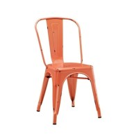 Metal Cafe Chair in Clementine Orange - CH33MCOR