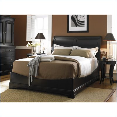 King size sleigh bedroom sets on black low profile wood sleigh bed 2