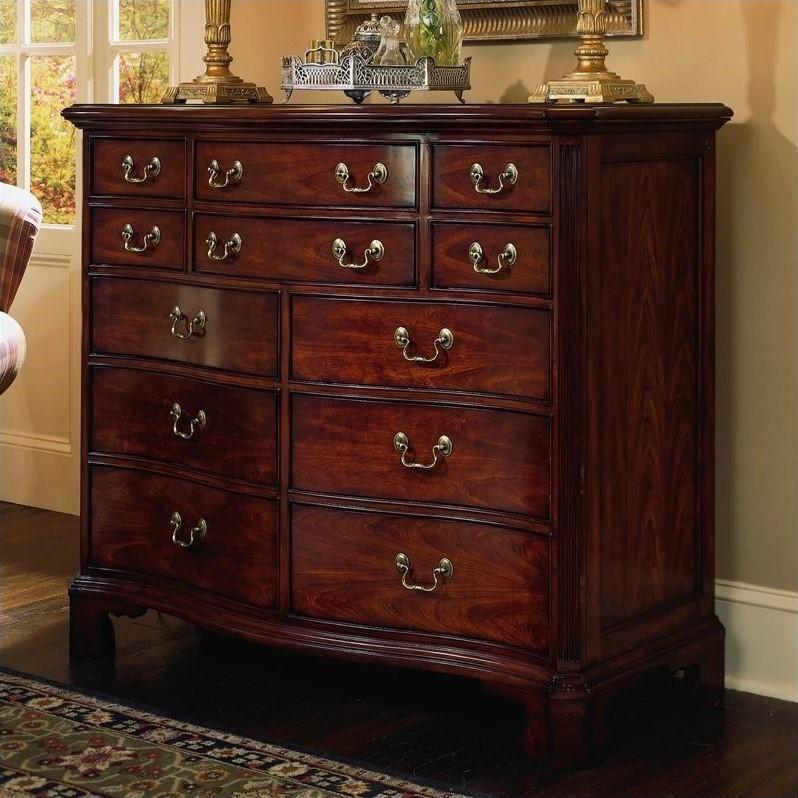 American Drew Cherry Grove 12 Drawer Double Dresser in Antique Cherry  791220