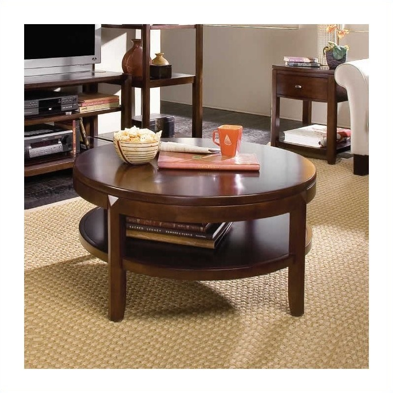 american drew tribecca sofa table urban home devonshire round wood top cocktail 912 913