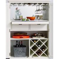 American Drew Lynn Haven 2 Door Wood Bar Cabinet in White