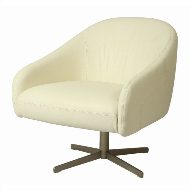 Pastel Furniture Dawsonville Leather Club Barrel Chair in