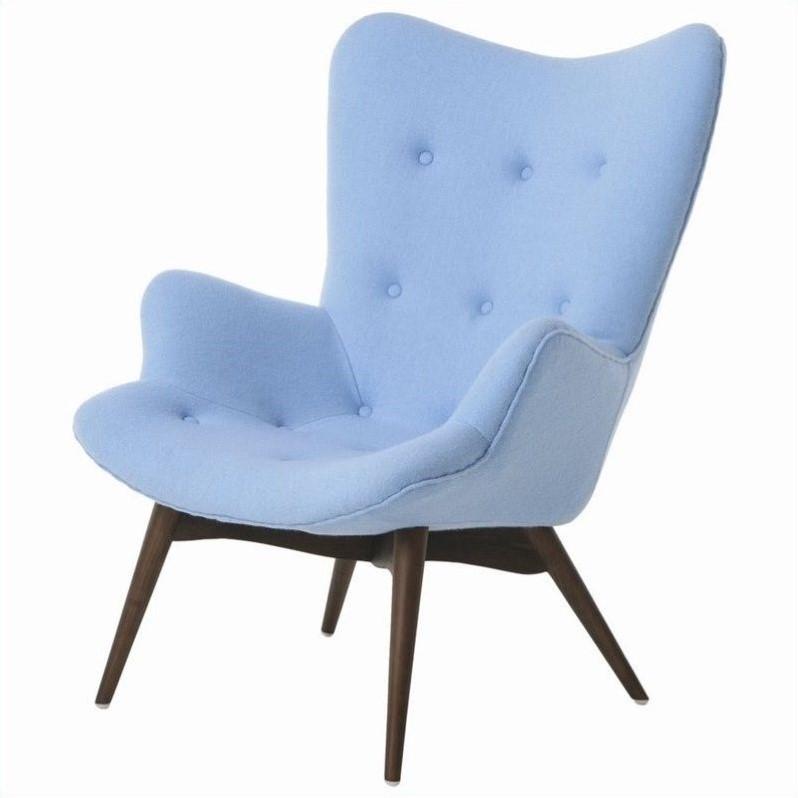 Pastel Furniture Gelsenkirchen Club Light Blue Accent Chair  eBay