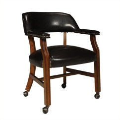 Poker Table Chairs With Casters Wedding Chair Decorations Diy Game Caster In Soft Cherry - D351-603c