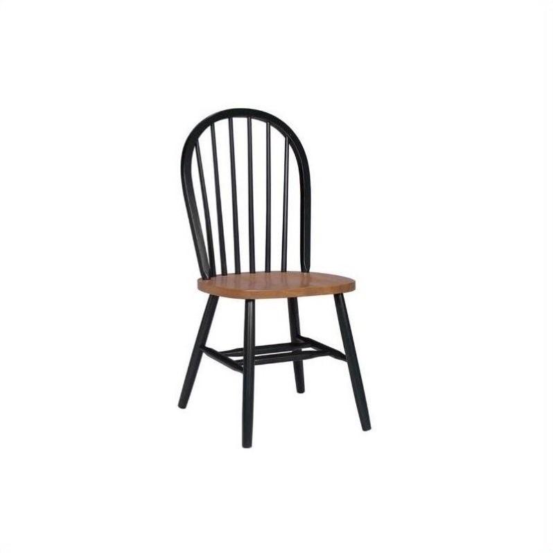 International Concepts Windsor Wood Side Chair Black