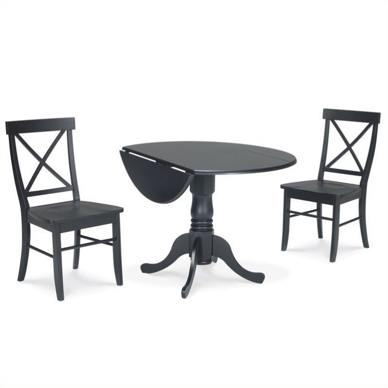 white x back chair boss office chairs 3 piece dining set with in black k46 42dp c613 2